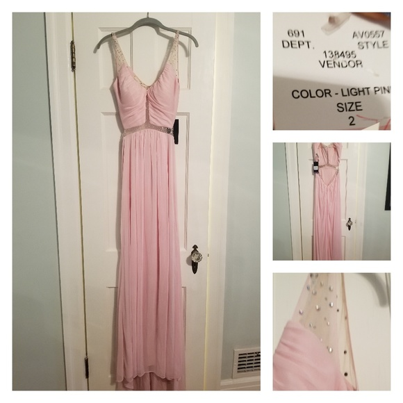 La Femme Dresses & Skirts - Pale Pink Full Length Formal NWT